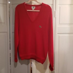Vintage Izod Sweater V-Neck in Red